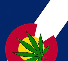 Smartphone Case - State Flag of Colorado - Cannabis Leaf 4 by Mark Podger