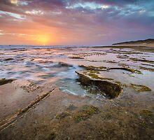 Evening at Thirteenth Beach by Julie Begg