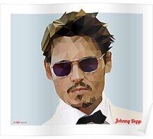 Johnny Depp Triangulation Vector Poster