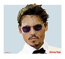 Johnny Depp Triangulation Vector Photographic Print