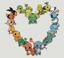 All starters!!!  Pokemon  by francy94