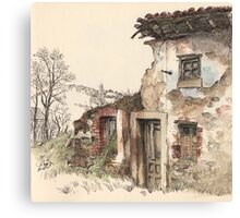 Ruined house Canvas Print