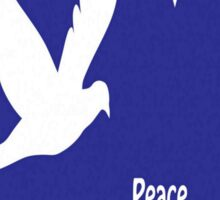 Peace At Christmas Greeting Card Sticker