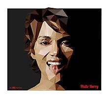 Halle Berry Triangulation Vector Photographic Print