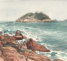 Shek O Beach in Winter by Adolfo Arranz