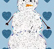 Blue Blaze Lovable Snowman by Haley Marshall