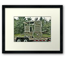 Becker Farm Milk Truck Framed Print