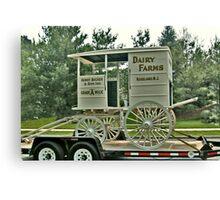Becker Farm Milk Truck Canvas Print