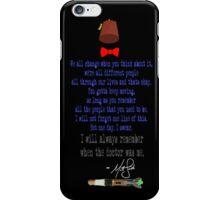 Matt's Final Words iPhone Case/Skin
