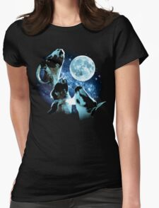 Three Goat Moon Womens Fitted T-Shirt