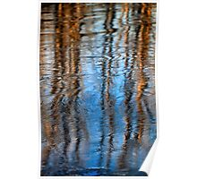 River Ice REflections Poster