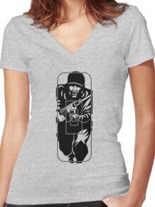 Figure 11 Military Gun Range Target Women's Fitted V-Neck T-Shirt