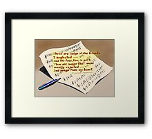 These are songs Framed Print