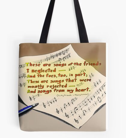 These are songs Tote Bag