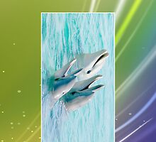 Trio of Dolphins Cellphone Case 8b by Gotcha29