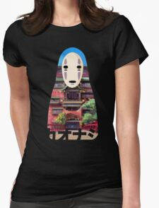 No Face Bathhouse2 Womens Fitted T-Shirt