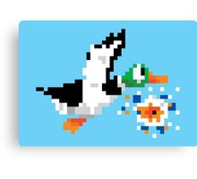8-Bit Nintendo Duck Hunt 'Miss' Canvas Print
