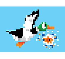 8-Bit Nintendo Duck Hunt 'Miss' Photographic Print