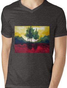 Five trees Mens V-Neck T-Shirt