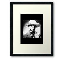 Look Of Hank Williams Sr. Framed Print