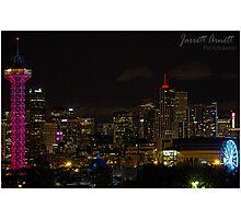 Denver Night Lights Photographic Print