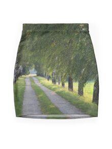Birches in Spring Mini Skirt