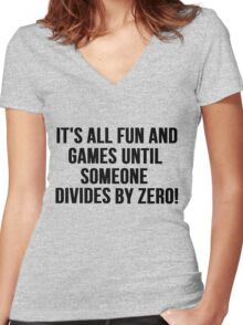 Dividing by Zero Women's Fitted V-Neck T-Shirt