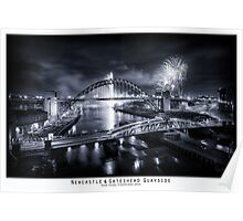 New Years Fireworks at the Newcastle & Gateshead Quayside, 2014 - Poster