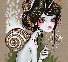 Snail Girl by sandygrafik