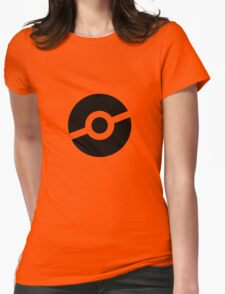 Pokeball Symbol Womens Fitted T-Shirt