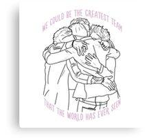 1D Group Hug Outline Canvas Print