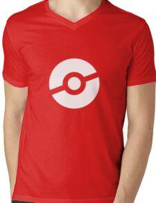 Pokeball Symbol Mens V-Neck T-Shirt