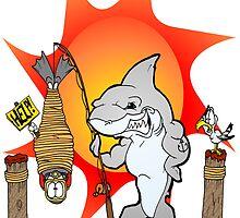 Shark Fishing by Skree