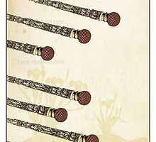 The Wands Suit - Eight of Wands by TheIsidoreTarot