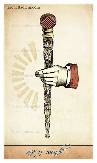 The Wands Suit - Ace of Wands by TheIsidoreTarot