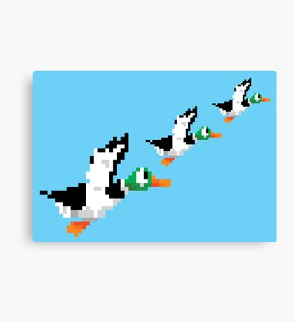8-Bit Nintendo Duck Hunt 'Trio' Canvas Print