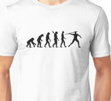 Javelin thrower evolution Unisex T-Shirt