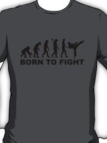 Evolution Karate Born to fight T-Shirt