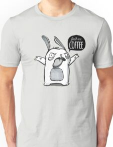 Feed me Coffee Cartoon Bunny Unisex T-Shirt