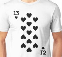 Thirteen of Hearts Unisex T-Shirt