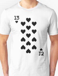 Thirteen of Hearts T-Shirt