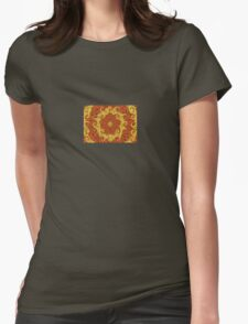A Twist of Orange and Lemon Abstract Pattern Womens Fitted T-Shirt