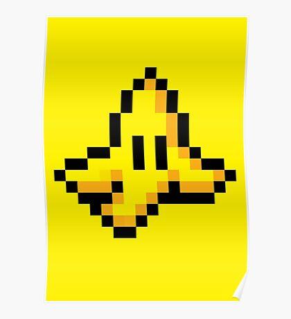 8-Bit Nintendo Mario Kart Banana Peel Poster