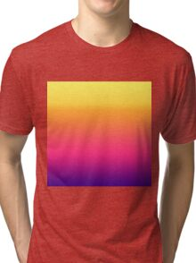 Girly Summer Tropical Gradient Abstract Sunset Tri-blend T-Shirt
