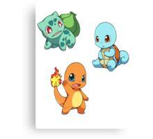 Pokemon chibi! Canvas Print