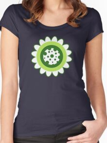 Retro Flowers Women's Fitted Scoop T-Shirt
