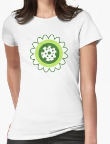 Retro Flowers Womens Fitted T-Shirt