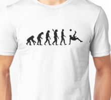 Evolution soccer bicycle kick Unisex T-Shirt