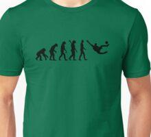 Evolution soccer player side kick Unisex T-Shirt