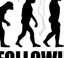 Stop following me evolution Sticker
